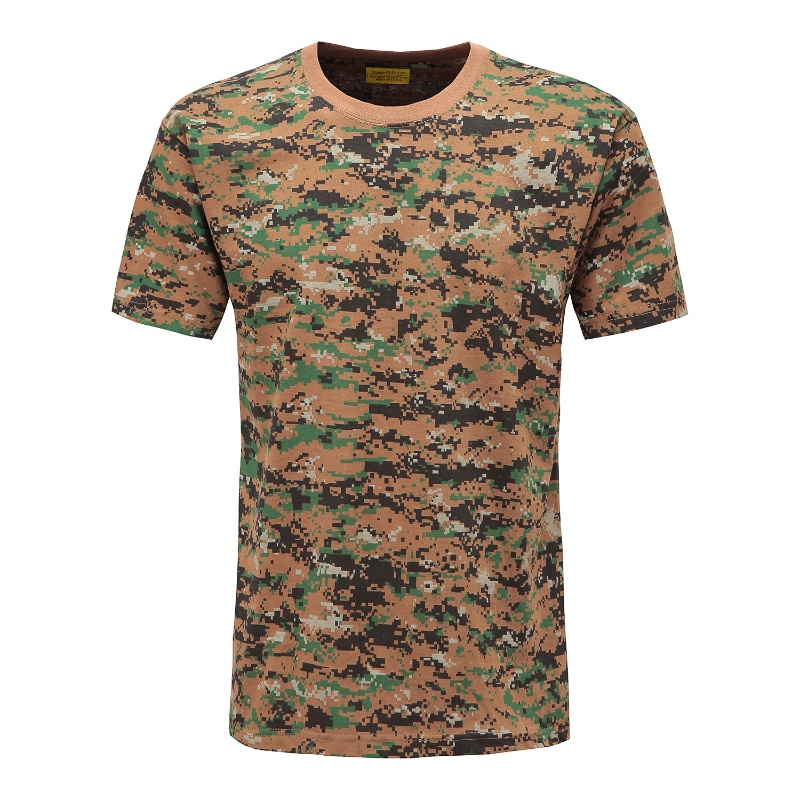 Mens Military Camouflage T-Shirt Army Camo Combat Tee Summer Beach Top Jungle