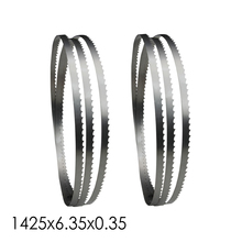 """2pcs Bandsaw Blade 1425 x 6.35 x 0.35mm Woodworking Tools for 8"""" inch Wood Band Saw Cutting TPI 6 10 14"""