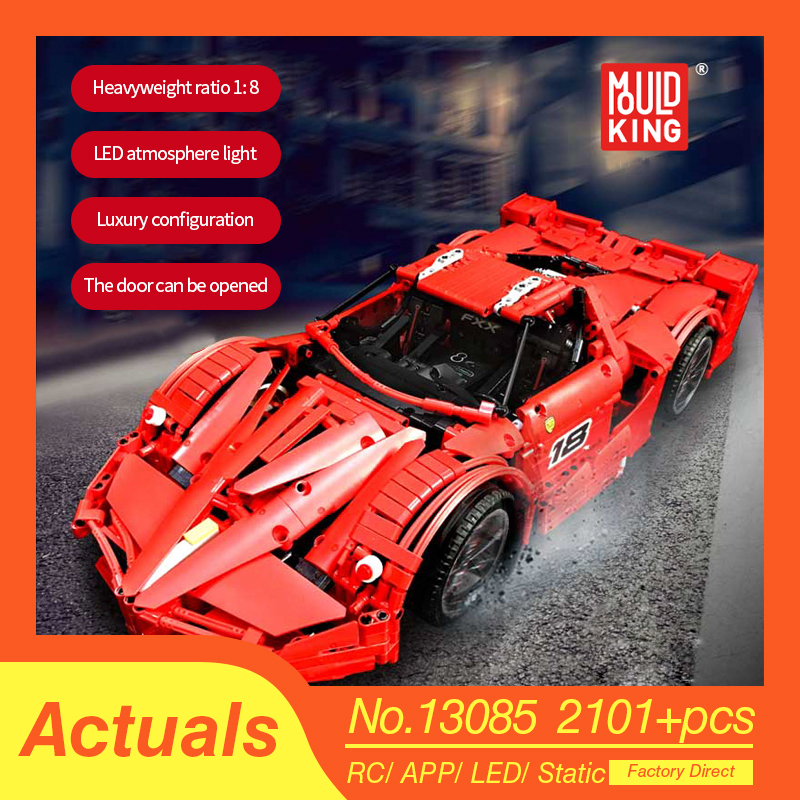 Technic series Lepins Lamborghinied RC Car The MOC-10559 Veneno Roadster With Motor Function Model Kit Building Block Brick Toys 1