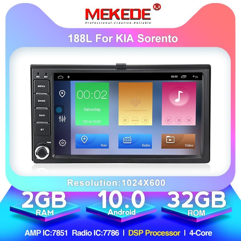 MEKEDE Android 10.0 Car Multimedia Player For KIA Carens Carnival Rio SPORTAGE SORENTO CERATO Optima Ceed 2008 Picanto Spectra