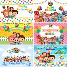 9 אפשרויות Cocomelon משפחה נושא מסיבת תפאורות צילום בלוני ילדים 1st יום הולדת רקעים Custom ויניל פוליאסטר