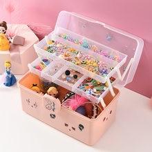 Children's Hair Accessories Storage Box Girl Baby Rubber Band Headdress Desktop Finishing Dressing Artifact Cute Jewelry Box
