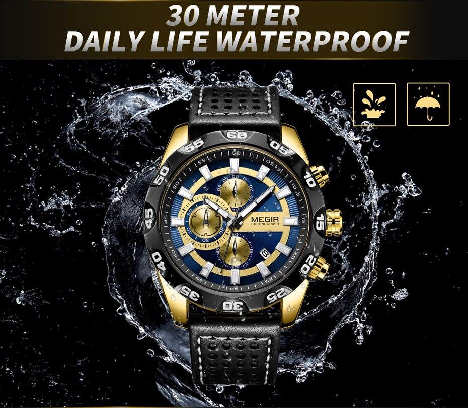 MEGIR Sport Mens Watches 2096
