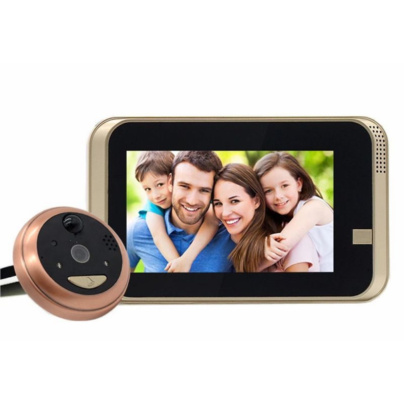 Hot Digital Door Viewer Night Vision PIR Motion Sensor Tamper Device Photo Video Call Security Camera With 2MP Camera