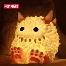 POP MART-juguete de monstruo de juguete, vida esponjosa con luz peluda, regalo, Chico, envío gratis
