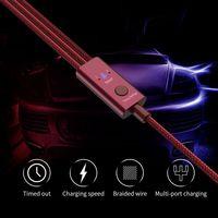 3 in 1 Ladekabel Mehrere Telefon Connector Ladegerät Kabel Adapter mit Blitz USB C MicroUSB  timing einstellung Controller|Handy-Adapter|   -