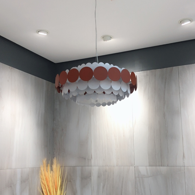 Nordic  Hanging Ceiling Lamps Hanging Lamp Iron Bedroom  Living Room  Home Decoration E27 Light Fixture Luminaire Suspendu
