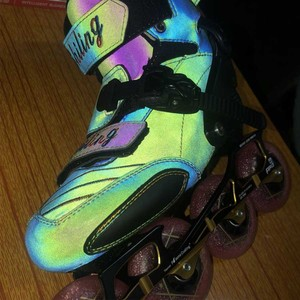 Image 3 - 2020 reflektierende Carbon Slalom Inline Skates Kind Erwachsene Roller Skating Schuhe Schiebe Patines Ähnliche Mit SEBA IGOR KSJ