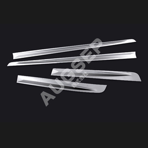Image 4 - High quality Auto Exterior Parts for Toyota Crown GRS214 Stainless Steel Car Door Trim Cover Car Styling Sticker chrome trim