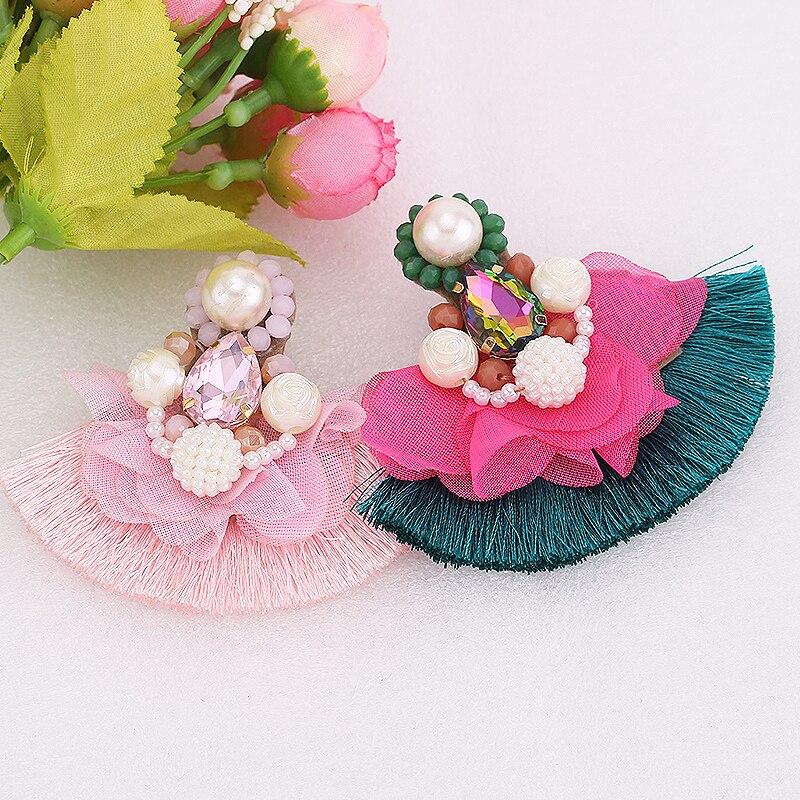 Геометрические Эффектные серьги-подвески для женщин, серьги-подвески в стиле бохо с цветком и жемчугом, 2020 Brincos свадебные серьги, ювелирные ...