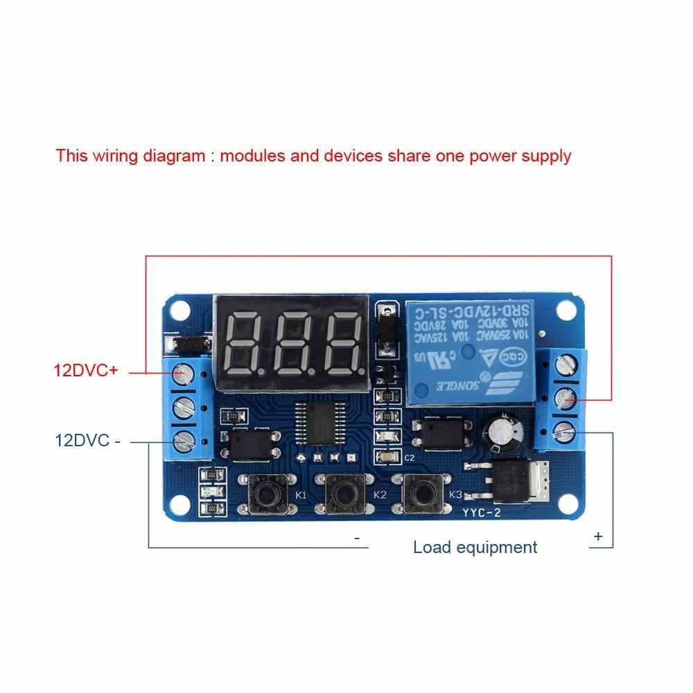 新しい Upgrades12V LED タイマーモジュールオートメーション遅延タイマー制御スイッチリレーモジュールケース高品質集積回路