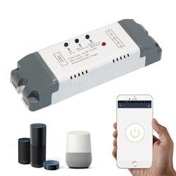Умный беспроводной модуль автоматизации EweLink, 2-канальный таймер, голосовое управление, Wi-Fi переключатель, пульт дистанционного управления, ...