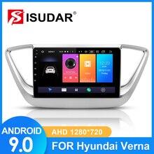 ISUDAR Car Radio For Hyundai/Solaris/Verna 2017 2018 2 din Android 9 Autoradio Multimedia GPS RAM 2GB ROM 32GB USB DVR Camera