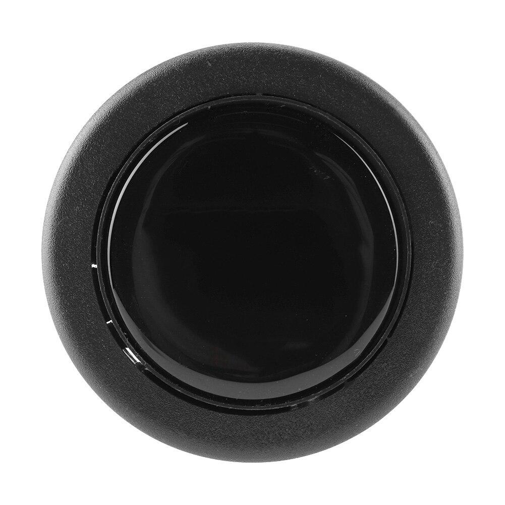 Bocina de volante de coche modificada Universal, botón de volante, Material de Metal y plástico negro, para la mayoría de los accesorios de automóviles