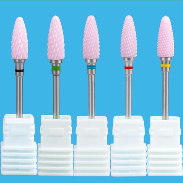 Ceramic Cutter For Manicure Nail Drill Bits Mill For Manicure Nail Drill For Electric Machine Milling Cutter Pedicure Feecy 6T 4