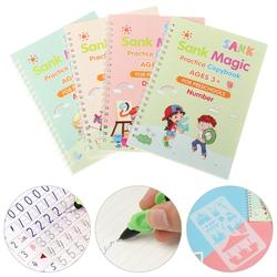 English Groove Copybook Children's Magic HandWriting Board Calligraphy Kids Preschool Educational Learn Practice Writing Sticker
