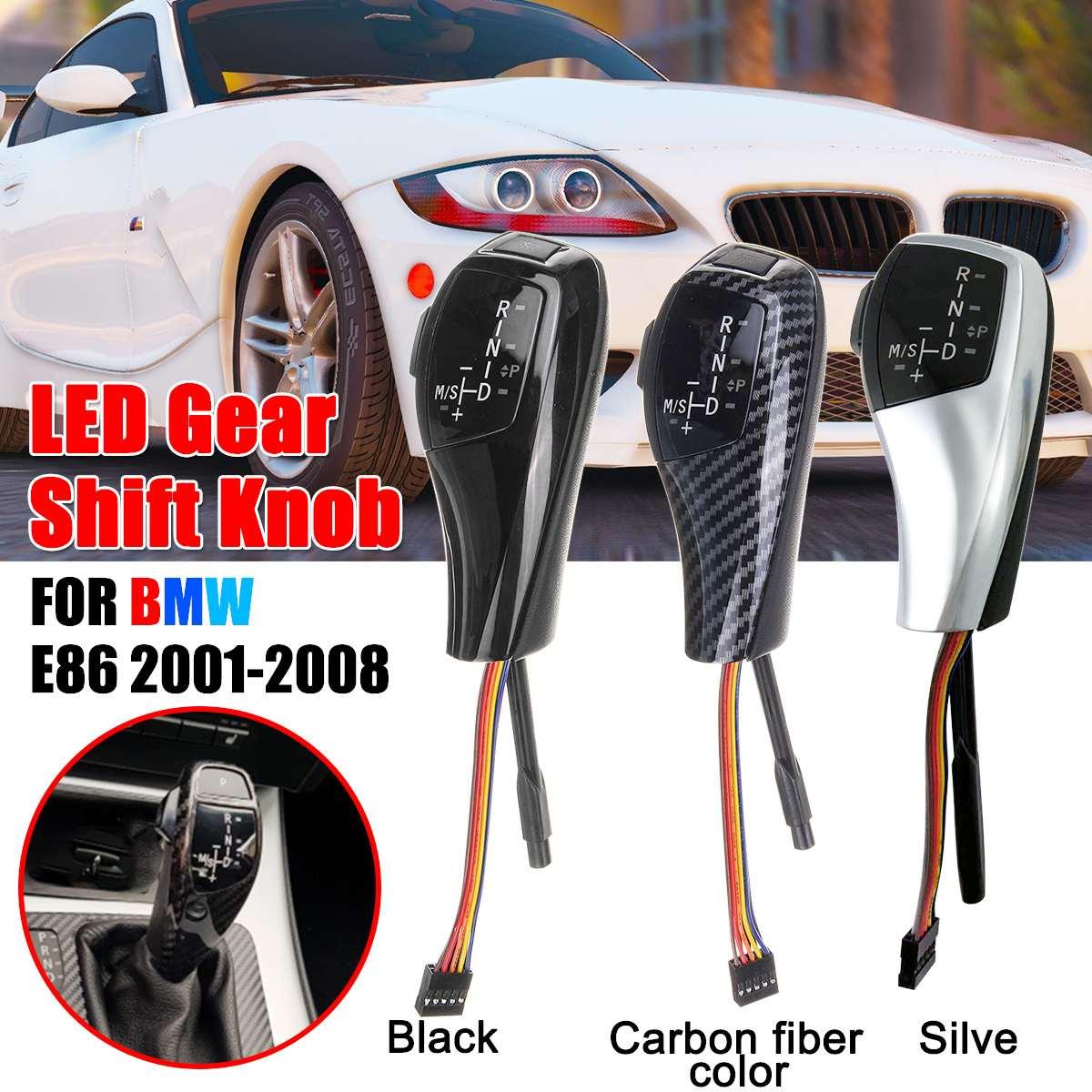 LED Manuel Pommeau de levier De Vitesses manette de vitesse levier Automatique Accessoires Pour BMW E86 2001 2002 2003 2004 2005 2006 2007 2008