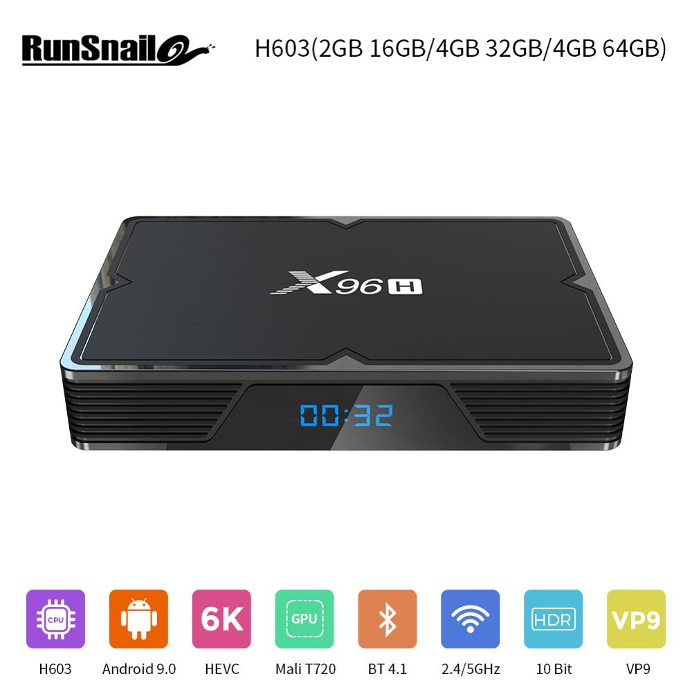 Android 9.0 4K 1080P TV Box 4+64G Octa Core WIFI BT Ethernet Media Player HDMI
