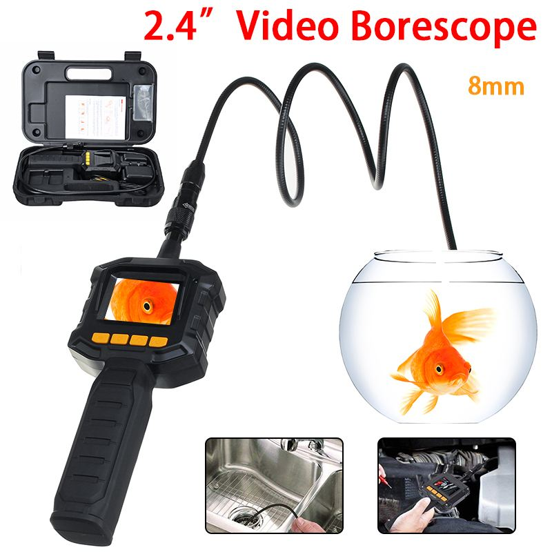 "NEW 2.4"" TFT Color LCD Monitor Lens Endoscope Snake Tube Pipe Borescope Inspection Surveillance IP67 Inspector Video Camera"
