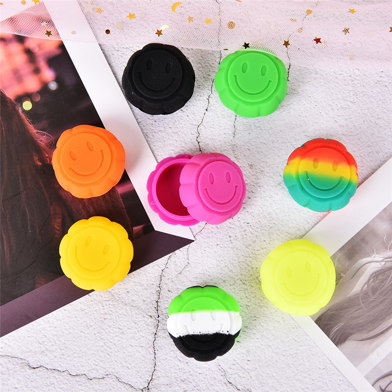 1Pcs Silicone Wax Container 6ml Pumpkin Silicon Dab Tool Storage Oil Jars Concentrate Case For Slick Oil/butane Oil/hash/herb