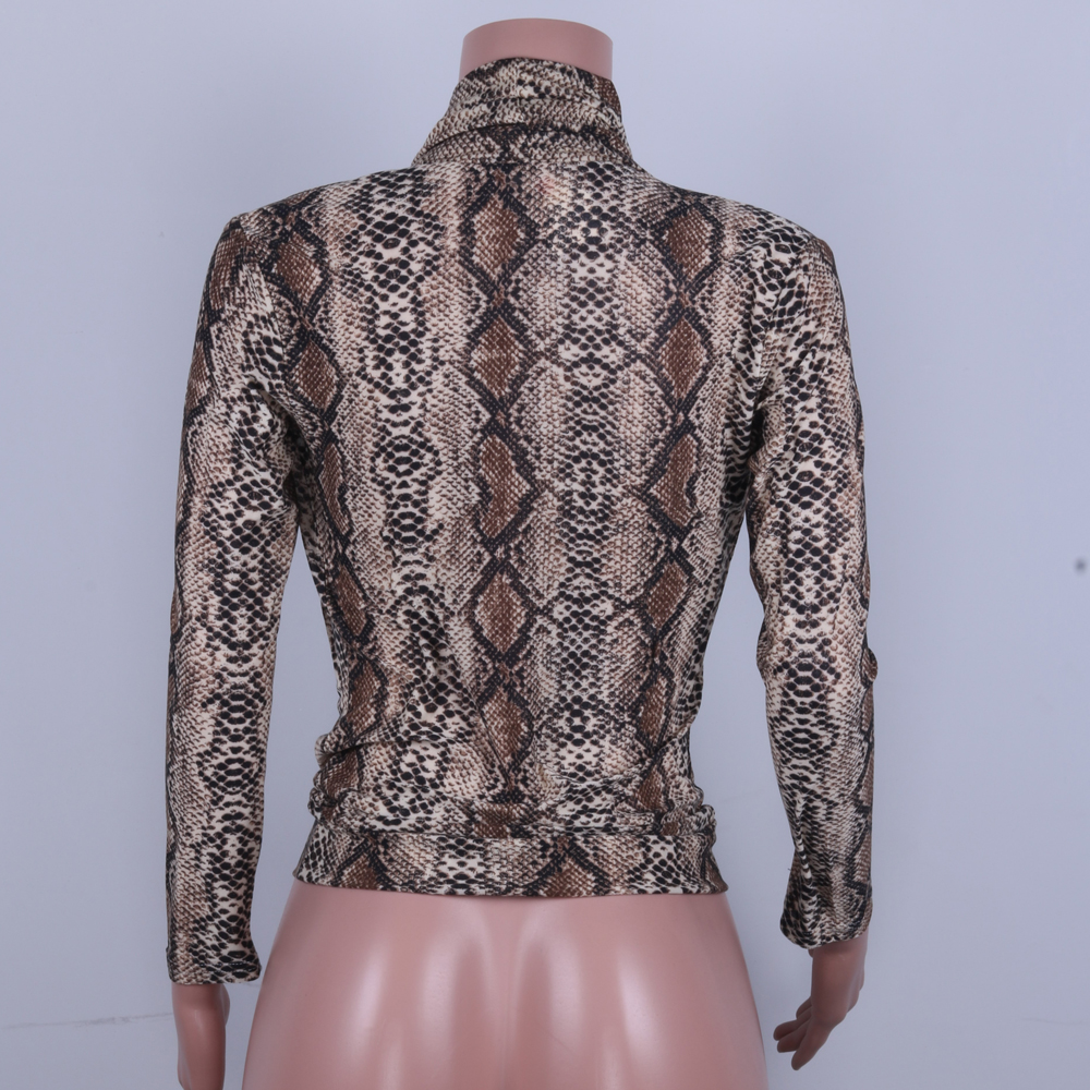 snake print tops female