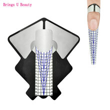 100 шт наклейки для формы ногтей овальные Сильные самоклеющиеся