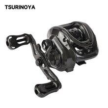 Tsurinoya isca finesse carretel de pesca lobo escuro 50 ultraleve carretel arremesso 148g rasa carretel fundição corpo carbono truta