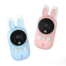1Pair Mini 3KM/2Miles Wireless Walkie Talkie with Flashlight Straps Kids' Toy Outdoor Camping Interactive Interphones 69HE
