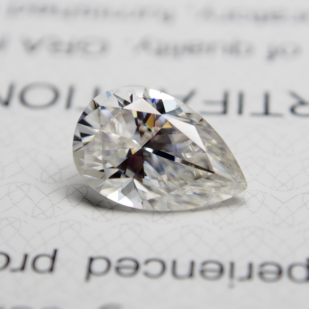 6*8mm pear Cut 1.33 carat White Moissanite Stone Loose Diamond for Wedding Ring