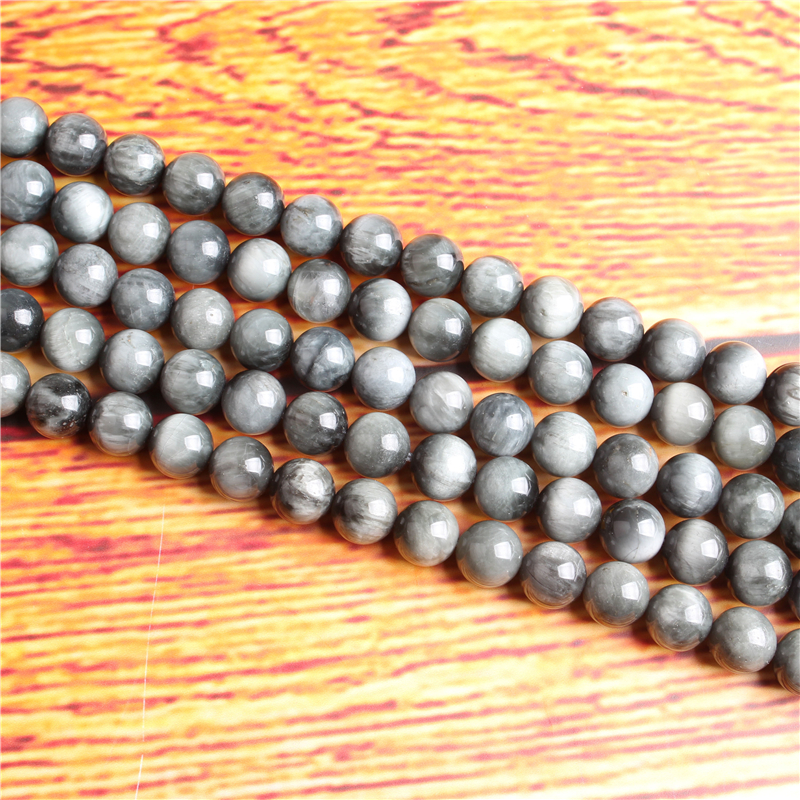Eagle eye Natural Stone Bead Round Loose Spaced Beads 15 Inch Strand 4/6/8 / 10mm For Jewelry Making DIY Bracelet Necklace