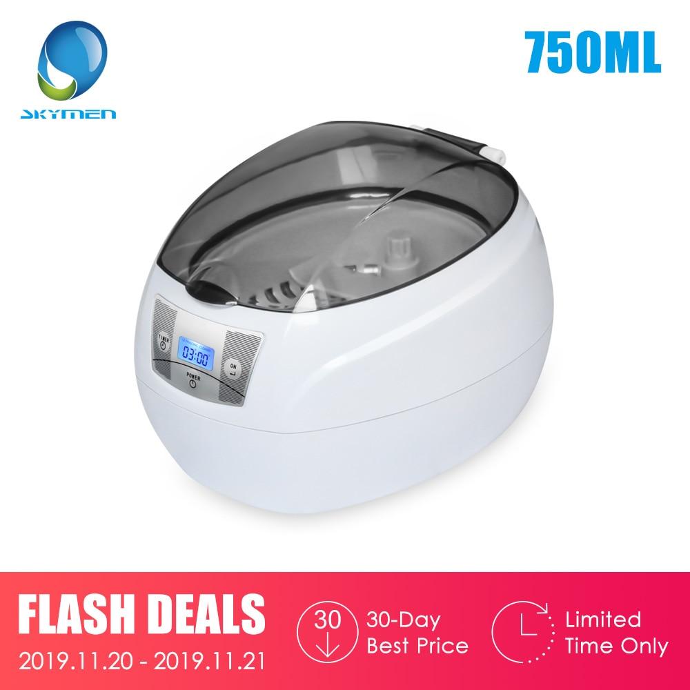 Ultrasound Cleaner 0.75L Tank 35W 42kHz  Baskets Jewelry Watches Injector Ring Dental PCB Digital Ultrasonic Mini Cleaner Bath