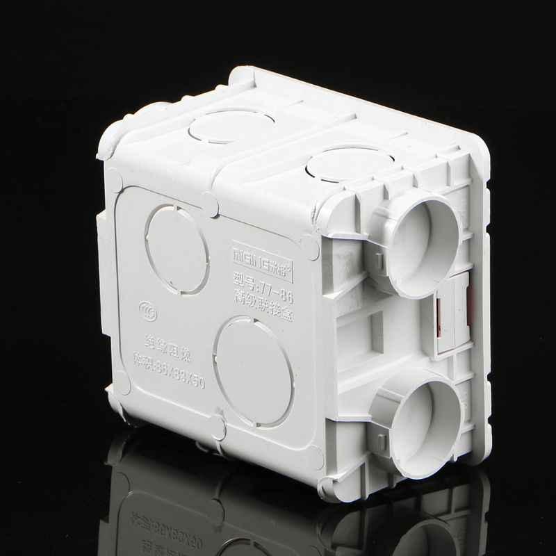 Cassette de montage mural de boîte de jonction de PVC de Type 86 de nouveauté pour le JUL10-A de Base de prise de commutateur