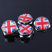 New 100 Kinds Of Style Pattern Car styling Personalized Sticker Car Logo Alloy Plate Screw Fixed License Plate Frame Bolts Cover