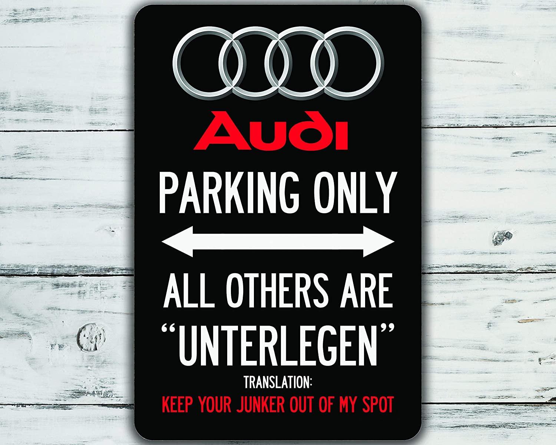 Автомобильный стояночный только металлический знак Audi, настенный художественный декор для паба, бара, гаража, украшение, жестяной знак, нас...