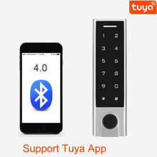 Controlador de acceso Bluetooth RFID de 125Khz, Control de acceso a huellas dactilares, resistente al agua IP66, aplicación Tuya, compatible con eliminar usuarios por APP