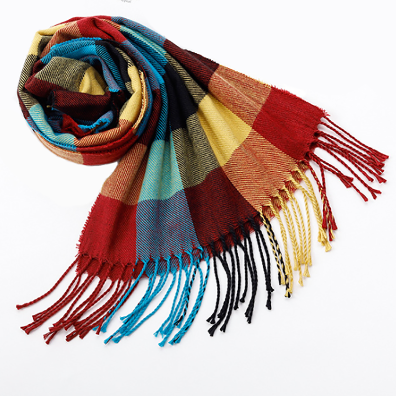 Solid Winter Scarf Women Men Warm Scarves Fashion Scarves Cashmere Shawl