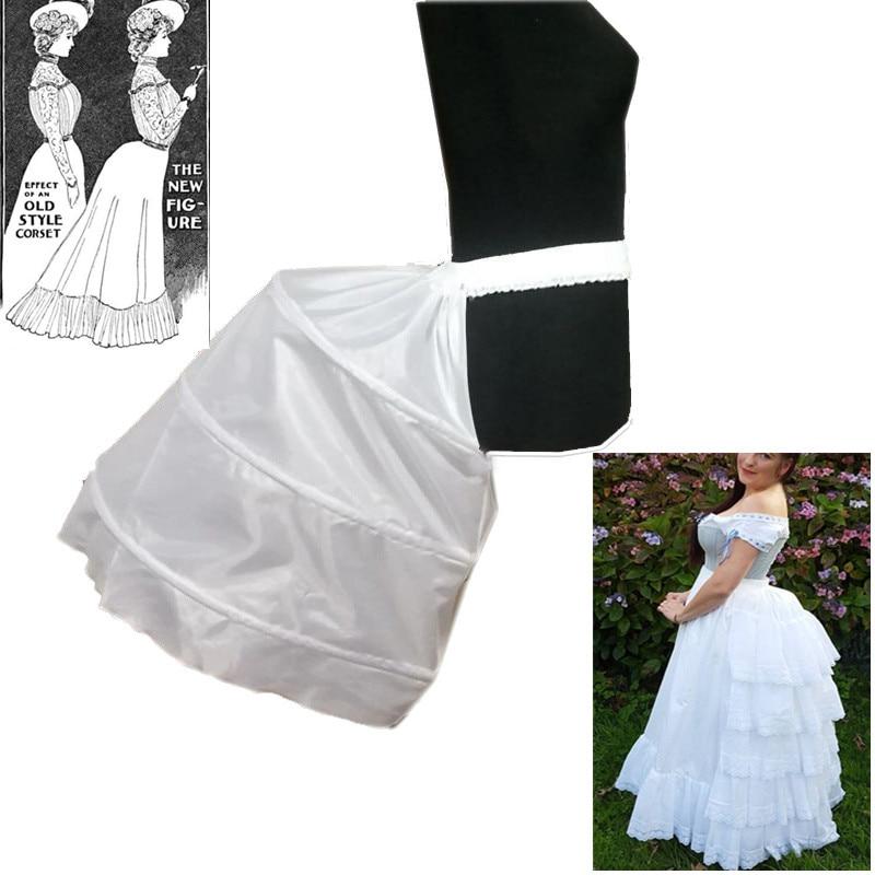 Baroque Petticoat Underskirt Slip Special Petticoat For Baroque 3-Hoop Crinoline Party Wedding Prom Dress Tulle Hip Underskirt