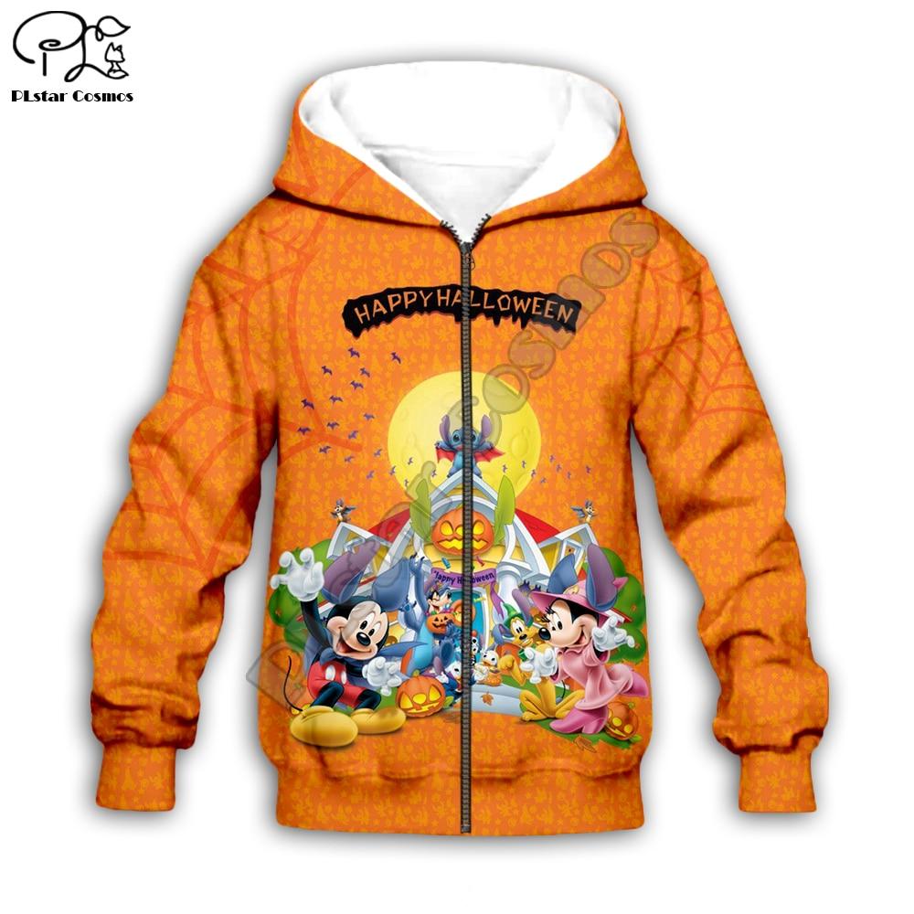 Kids boy girl cartoon set 3D Halloween bat Stitch print hoodies Pants Shorts zipper micky minni costume Sweatshirts tshirt in Matching Family Outfits from Mother Kids