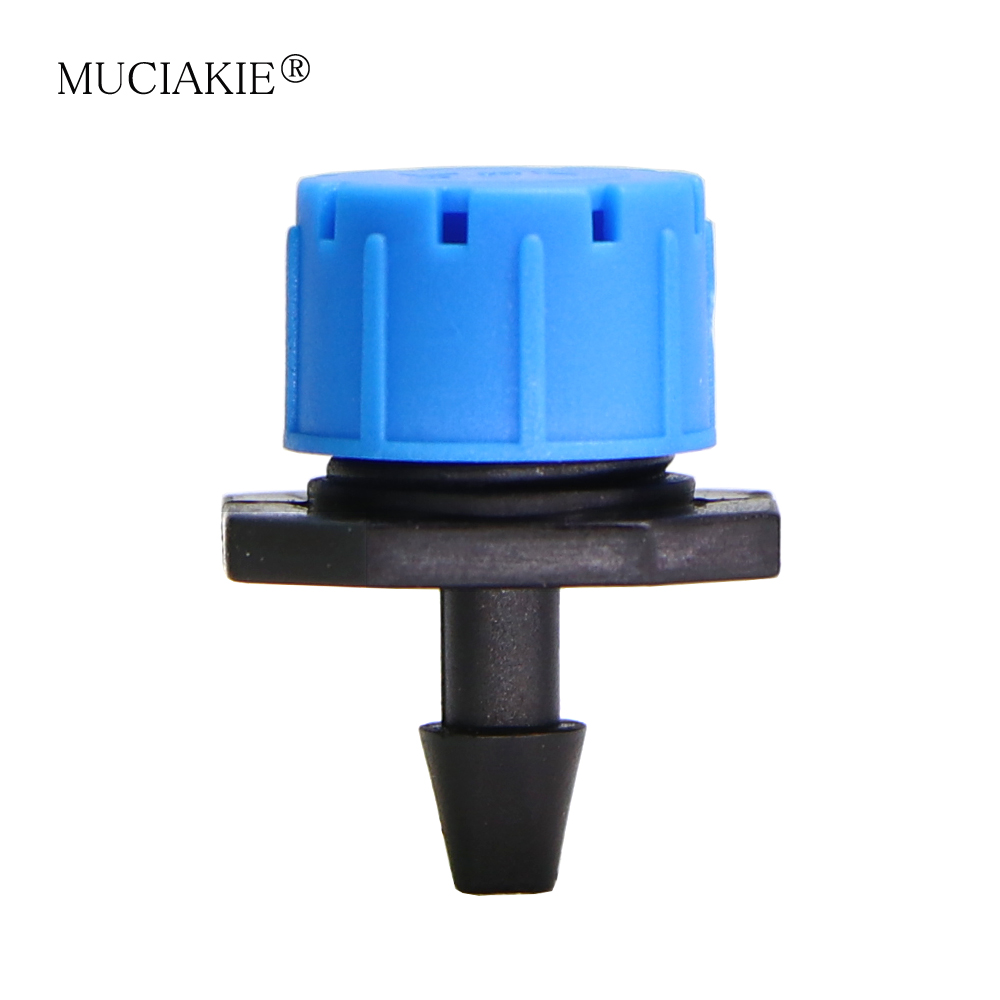 MUCIAKIE 500-30PCS 360 Degree Adjustable Blue Micro Flow Drip Irrigation Drippers Garden Watering Sprinklers For 1/4 Inch Hose