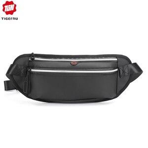 Tigernu Men's High Quality Houlder Bag Celular Chest Bag Sport Fashion Bags For Men Waterproof Outdoor Travel Bag Male Waist Bag