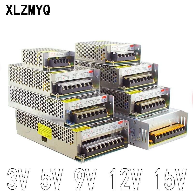 Трансформаторы систем освещения 110V 220V DC/DC 3V 5V 9V 12V 15V 1A 2A 3A 5A 6A 8A 10A 20A 30A 50A для CCTV Блок питания светодиодной ленты адаптер