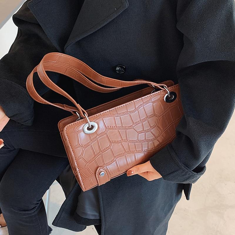 с доставкой PU Leather Shoulder Bags for Women 2021 Winter Women Fashion Trend Branded Handbags and Purses Lady Fashion Hand Bag
