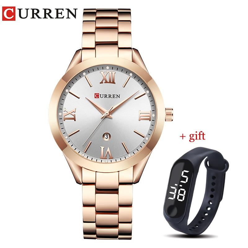 CURREN Gold Watch Women Watches Ladies Creative Steel Women's Bracelet Watches Female Clock Relogio Feminino Montre Femme 1