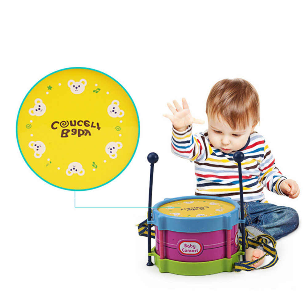 5Pcsเด็กเครื่องดนตรีชุดกลองเด็กวงดนตรีRhythmชุดRoll Drumเครื่องดนตรีชุดเล่นเด็กของเล่นJ75