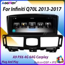 Tesla Touch Screen GPS Navigation Auto Radio Für Infiniti Q70L 2013-2017 Android 9,0 PX6 Auto Auto Stereo Multimedia player