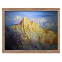 Золотая гора absract пейзаж масло на холсте Ручная Краска гостиная