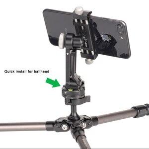 Image 4 - Telefon dağı Tripod adaptörü evrensel dikey braketi SmartPhone klip tutucu iPhone Huawei Xiaomi Samsung
