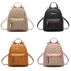 Image 3 - Luxury Famous Brand Design Women Backpack for Ladies Girls Vintage High Quality PU leather Back pack Bag Rucksack Bolsas Mochila