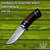 Damascus Steel Hinting Knives Camping Hiking Outdoor Tools Tactical Knife Fixed Blade Damascus Pocket Knife Survival Rescue Tool