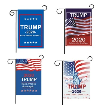 USA President Flags American President Flag 2020 KEEP AMERICA GREAT Yard Flag USA Election Flag Double Sided Flags for Garden image